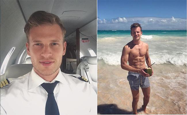 ¡Ven y vuela con Patrick! El piloto aviador más guapo del mundo