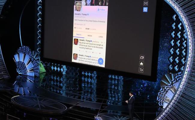 #Oscar2017 Más de 150.000 personas reenvían tuit de Jimmy Kimmel a Trump