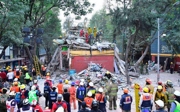 Suspenden labores de rescate en el multifamiliar de Tlalpan
