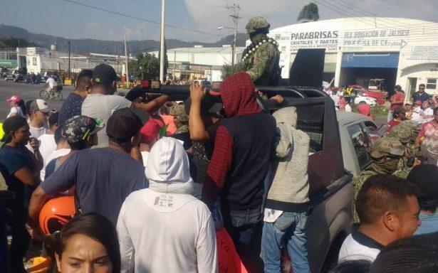 Marina confirma disparos para disuadir a población enardecida en Jalisco