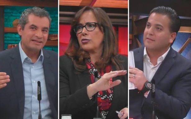 Debaten por primera vez los presidentes de Morena, PAN y el PRI