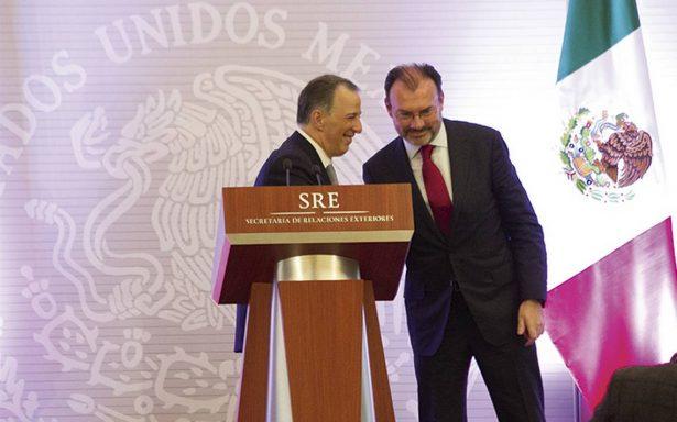 Videgaray presume a diplomáticos logros alcanzados por Meade
