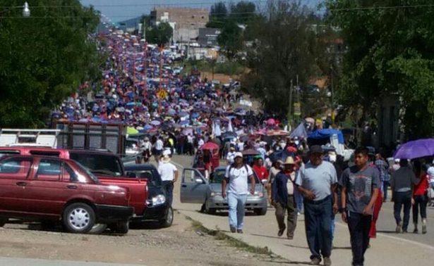 CNTE recuerda caso Nochixtlán con marcha en Oaxaca