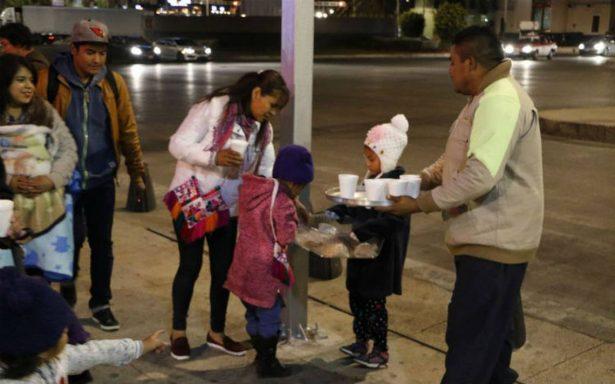 Pan y café para aguantar el frío camino al Tepeyac