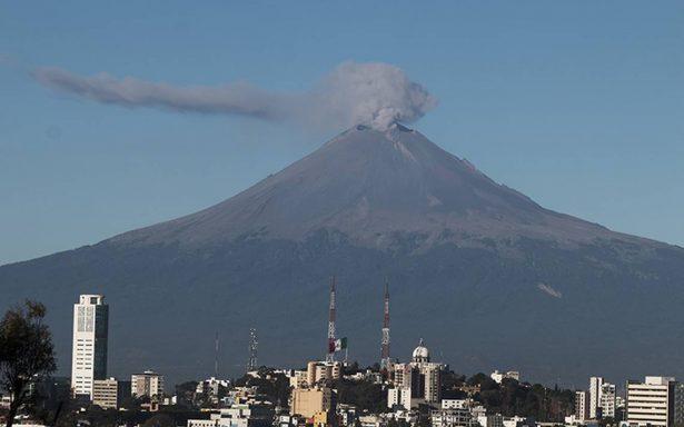 El Popocatépetl registró una explosión y 263 exhalaciones