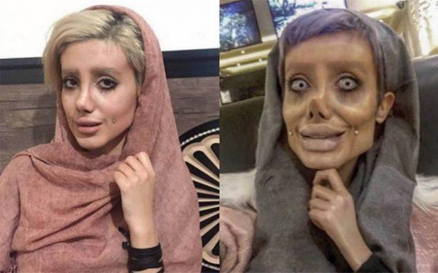 """""""Todo es Photoshop"""", revela joven que supuestamente se operó para ser Angelina"""