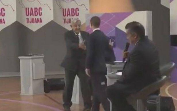 No hubo abrazo entre AMLO, Anaya y Meade durante segundo debate