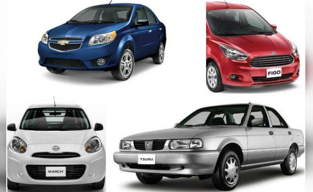 Aveo, Versa y Spark en la lista negra de los autos más inseguros de México