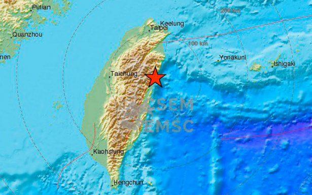 Registran sismo de magnitud 6.1 en la costa noreste de Taiwán