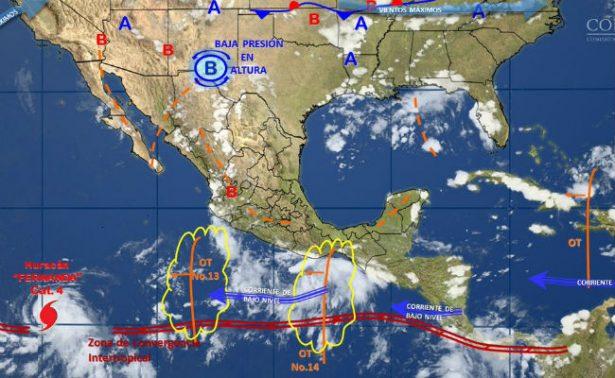 Huracán Fernanda alcanza categoría 4 sin amenaza para territorio mexicano