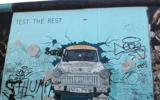 #NoMásMuros Conmemoran 28 años de la caída del muro de Berlín
