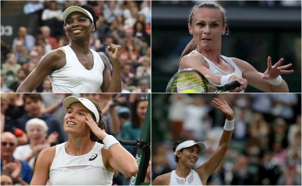 Williams, Konta, Muguruza y Rybarikova a semifinales en Wimbledon 2017