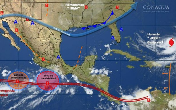 José, huracán de categoría 1 se mueve entre Bahamas y Bermudas sin amenaza