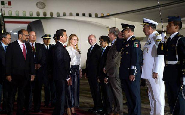 Peña Nieto arriba a Perú para participar en VIII Cumbre de las Américas