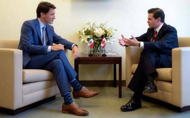 Peña Nieto dialoga con Trudeau sobre cierre del TLCAN