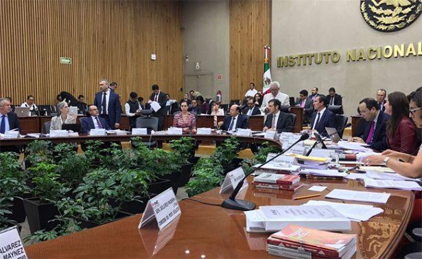 INE pausa sesión: el lunes analizará rebase degastos de campaña en Coahuila