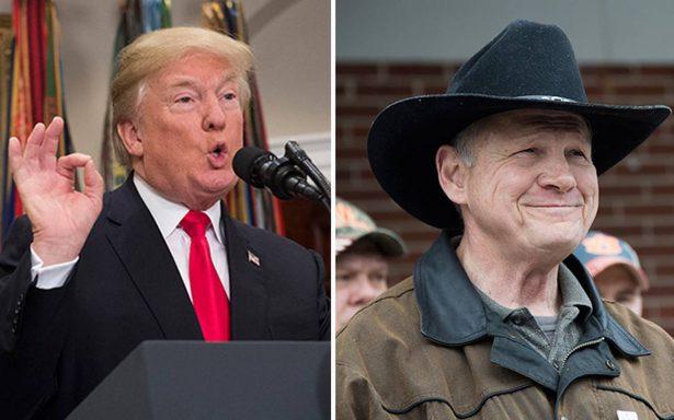 Trump insiste y pide votos en Alabama para Roy Moore, republicano acusado de acoso