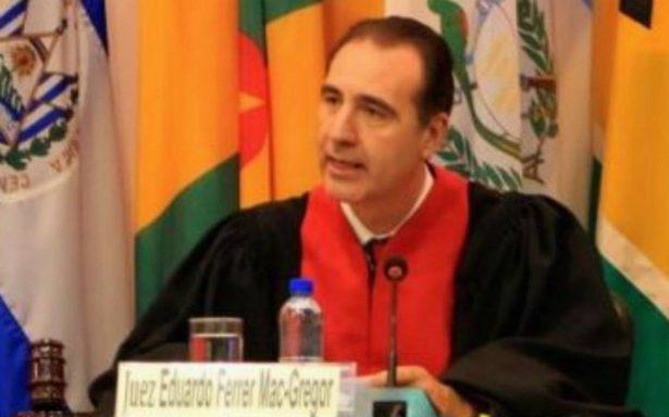 Eduardo Ferrer Mac-Gregor, elegido presidente de la CorteIDH