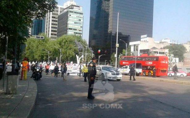 Regreso a clases… y maestros de la CNTE marchan en Paseo de la Reforma