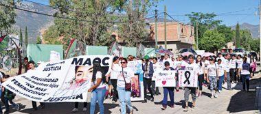 Realizaron marcha por la justicia en Canatlán