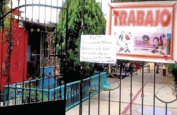 Suspende actividades jardín de niños, en GV
