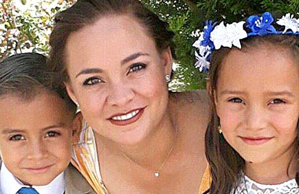 SAN JUAN DEL RÍO, Dgo (OEM).- Guapísima Mayra Rodríguez de A. y sus hijos.