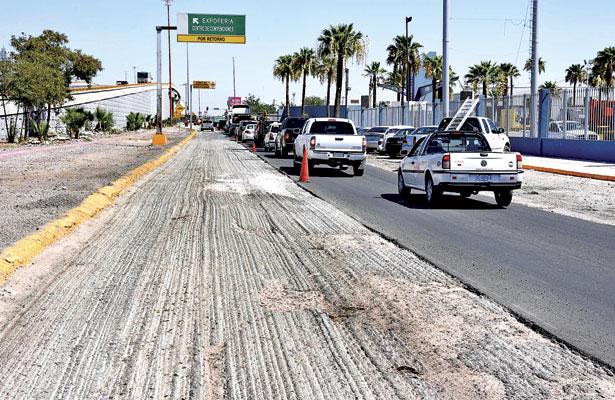 Avanzan obras en el bulevar  Ejército Mexicano en G.P.