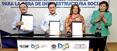 Cumple gobierno a municipios: Aispuro