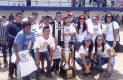 La afición y familiares de jugadores del IED festejaron en grande este primer titulo de la liga Premier Benito Juárez.
