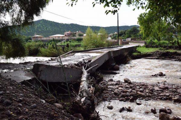 Santiago también fue afectado por torrenciales lluvias
