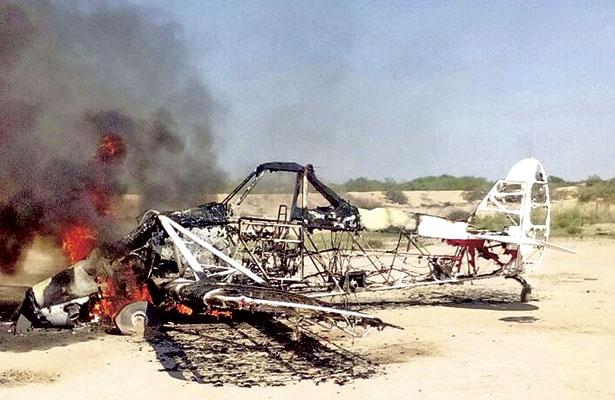 Se incendia avioneta