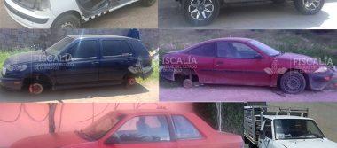 Fiscalía recupera 6 vehículos