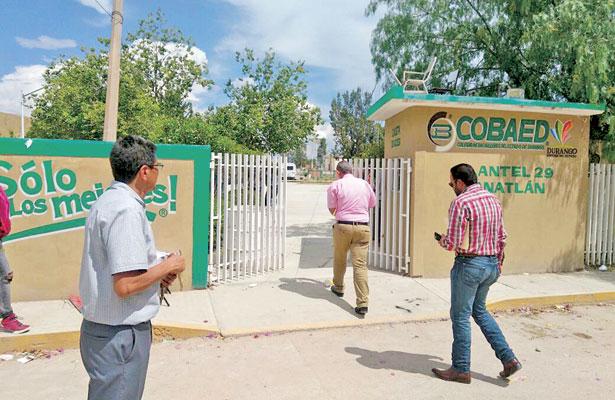 Reanudaron las clases en el COBAED 29 de Canatlán