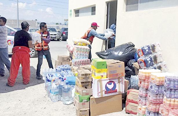 Envía Gómez Palacio 10 tons.de víveres para damnificados