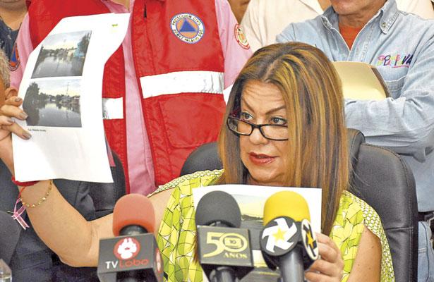 Constata Herrera Ale daños causados en GP, por lluvias