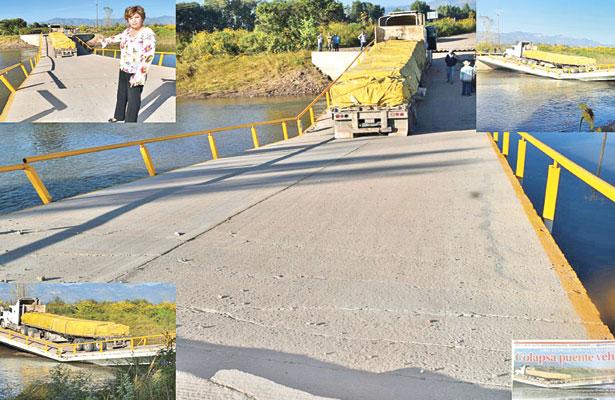 A un año se desconoce la causa de la caída de puente en Canatlán