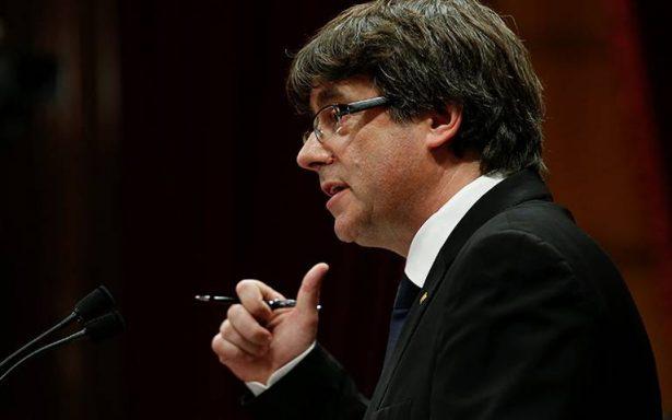 Puigdemont propone suspender declaración de independencia en Cataluña