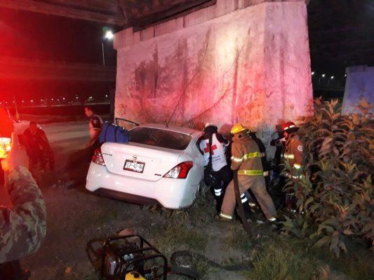Accidente de un UBER deja un saldo de 8 lesionados