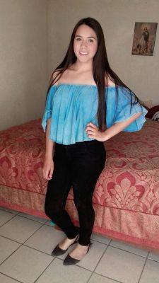 SAN JUAN DEL RÍO, Dgo. (OEM).- Muy guapa jovencita Brisa Villarreal Rodríguez.
