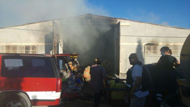 Arde albergue para jornaleros agrícolas, en Canatlán