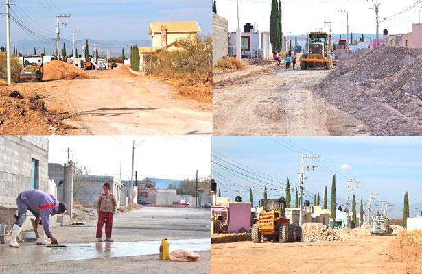 Cierra Cuencamé 2017 con 3 obras de pavimentación