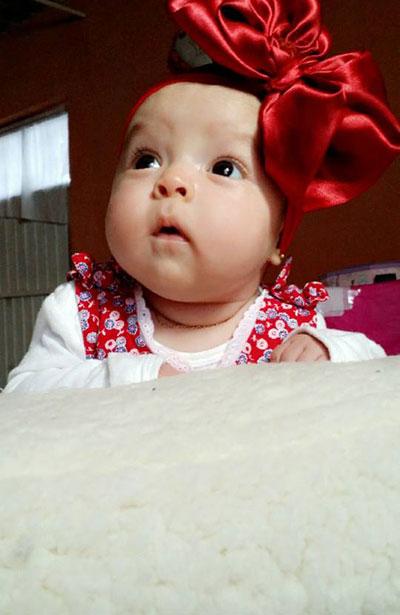 SAN JUAN DEL RÍO, Dgo. (OEM).- La hermosa bebé Constanza Rocha Martínez.
