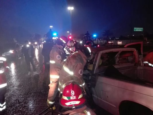 Dos heridos, deja brutal accidente en G.P.