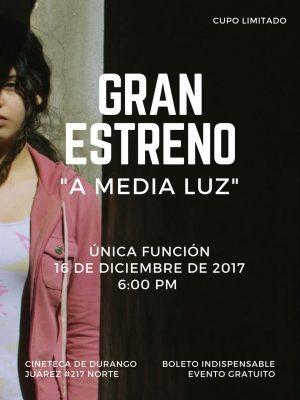 """Pamela Velázquez estrena su corto titulado """"A media Luz"""""""