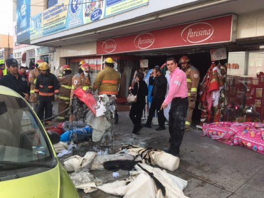Se registra conato de incendio en tienda de telas en G.P.