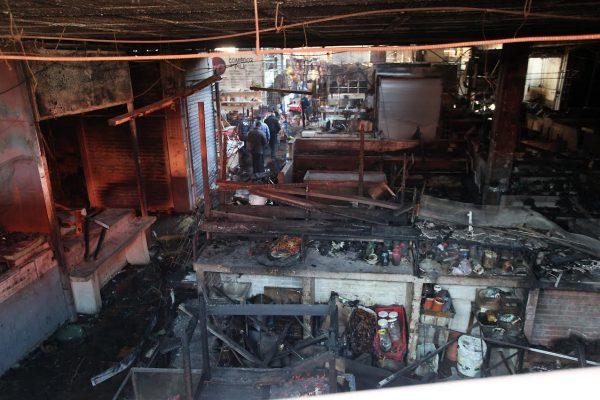 Arde el Mercado Gómez Palacio