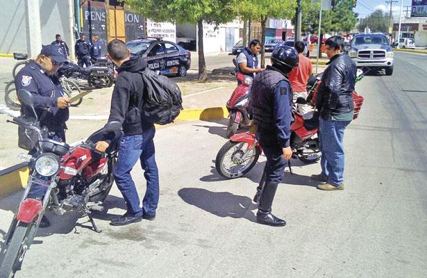 Hasta 78 multas al díaaplican a motociclistas