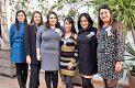 Anaid Hernández Triana, Guillermina Hernández Madrid, la festejada, Lidia Marisa Hernández Estrada, Claudia Herrera Salas y Adria Hernández Triana.