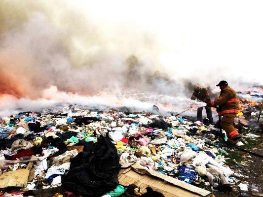 Nuevamente incendian basurero de Canatlán