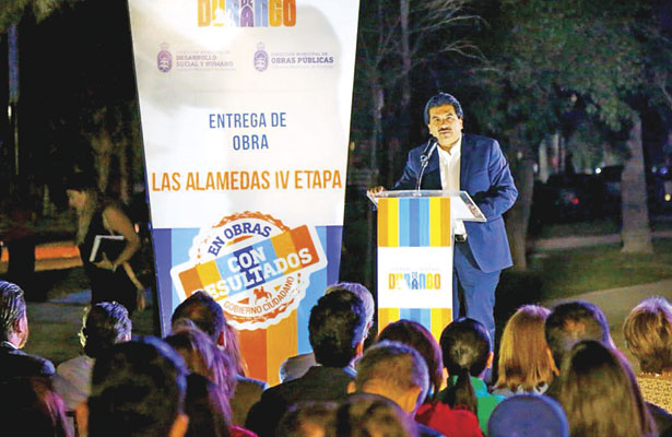 Inaugura Enríquez el paseo de Las Alamedas